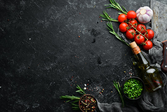 Black cooking banner. Free space for your text.