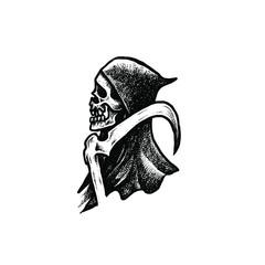 Grim reaper dotwork illustration