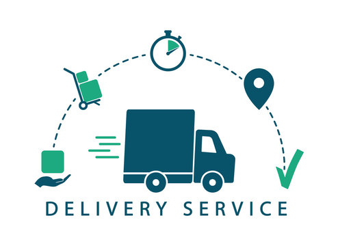 Delivery tracking. Delivery service. Vector icons shipping.