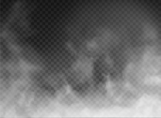fog and smoke isolated on transparent background Fototapete