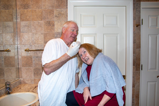 Man terrified while dying wifes hair at home