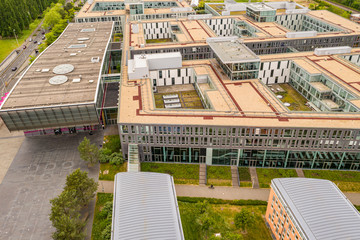 Aerial view of the Telekom Deutschland Building GmbH Bonn Beuel