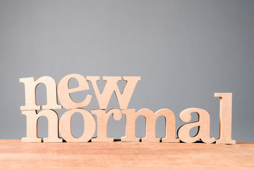 NEW NORMAL Wood Word