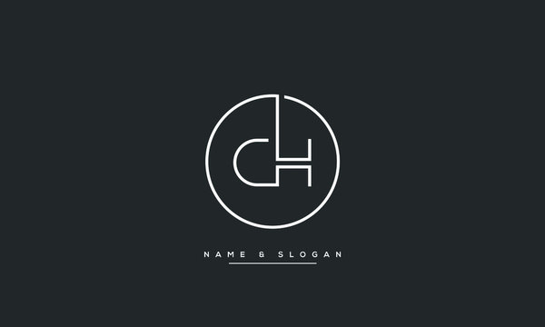 CH ,HC ,C ,H letters  abstract logo monogram