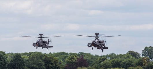 Printed roller blinds Helicopter Army Air Corps WAH-64D Apache pair