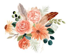 rustic floral bouquet watercolor