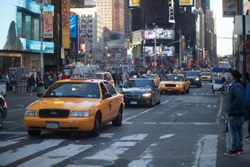Fototapeta Vehicles On City Street