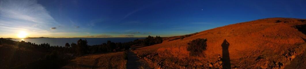 Foto auf Gartenposter Schokobraun Scenic View Of Landscape Against Sky