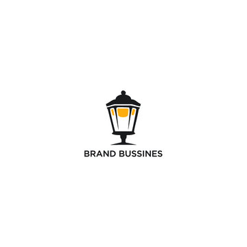 illustration of an background, lamp logo