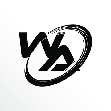 Initial Letter WA Brush Effect Logo Design
