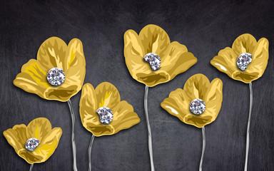 Abstrakcyjne żółte tulipany