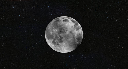 Wall Mural - Full  Moon in the space