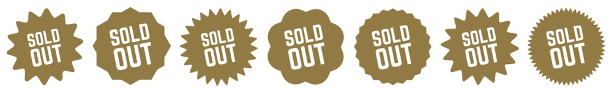 Sold Out Tag Gold | Icon | Sticker | Deal Label | Variations