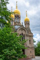 Russisch-Orthodoxe Kirche auf dem Neroberg in Wiesbaden, Hessen