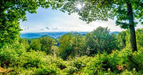 Blick über das Siebengebirge, Rhein und Drachenfelser Ländchen in die Eifel