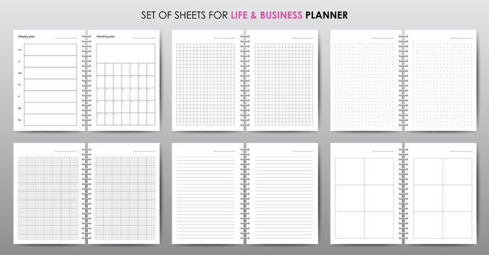 Simple vector business planner with open date