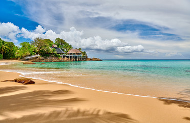 Wall Mural - Beautiful beach at Seychelles