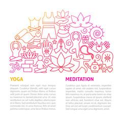 Yoga Meditation Line Template