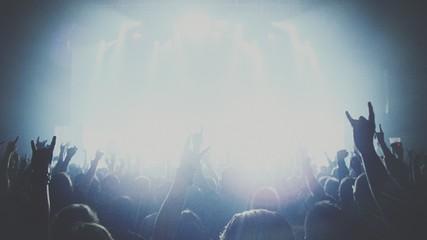 Obraz Crowd Enjoying At Music Concert - fototapety do salonu