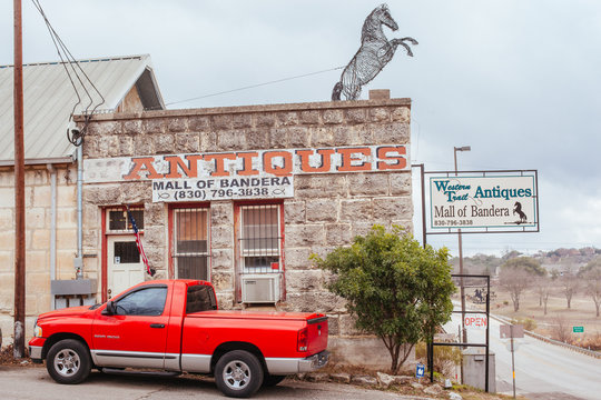 Town of Bandera in Texas USA