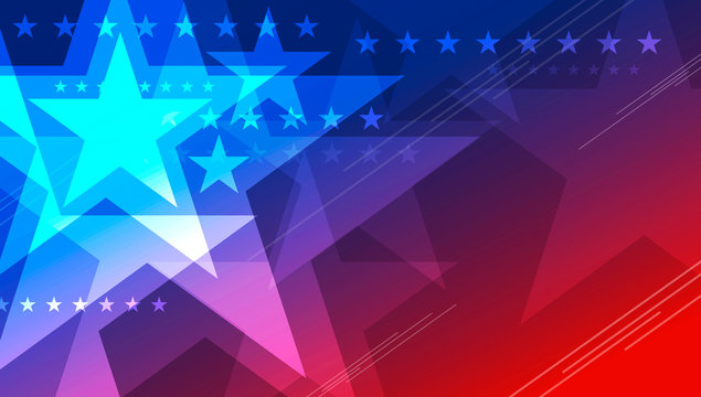 Abstract USA background design of star for 4th of july Independence day vector illustration