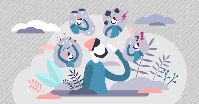 Feeling expressions vector illustration