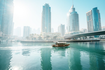 Fotomurales - Dubai Marina at morning, United Arab Emirates