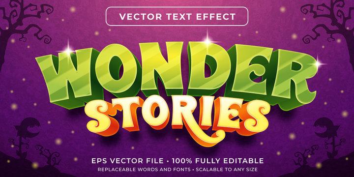 Editable text effect - fantasy wonderland style
