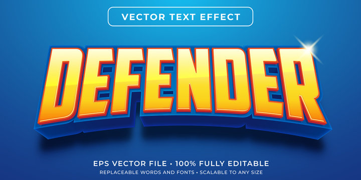 Editable text effect - hero game defender style