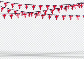 Bunting Hanging Banner UK British Flag Triangle Background Fotomurales