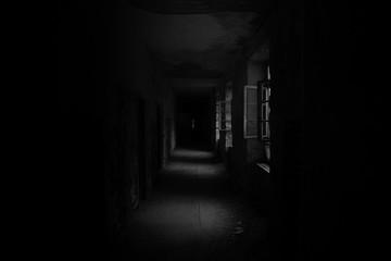 Fototapeta Empty Corridor Of Abandoned Building obraz