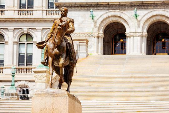 General Philip Sheridan statue near New York State Capitol building