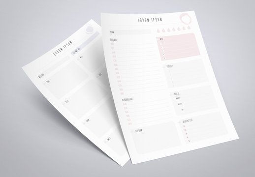Daily and Weekly Planner Layout