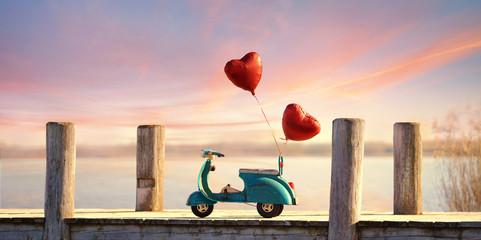 romantischer road trip am See