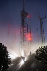 Radio Towers high on Mt. Wilson in Fog