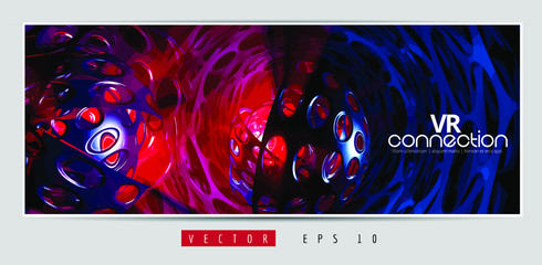Vector banner background of abstract technology digital hi tech concept ready for website Wall mural