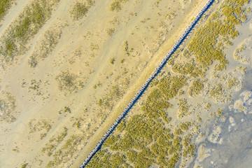 Wall Mural - Top down view of Tidal Marshland Waddensea