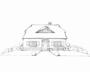 Niedliches frisisches Haus mit Reetdach