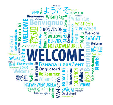 Round Welcome Word Cloud