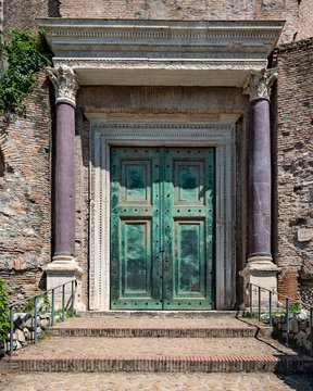 Temple of Romulus in Rome, Italy