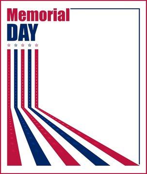 Vector illustration for US Memorial Day celebration