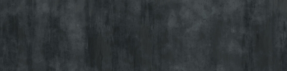 abstract grunge dark gray background, wide wall texture, banner with copy space Fotobehang