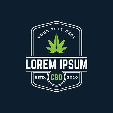 Cannabis CBD Oil Logo Template