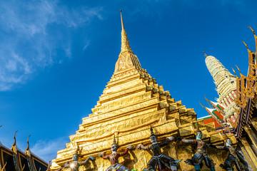 Wall Mural - Royal grand palace pagoda temple in Bangkok