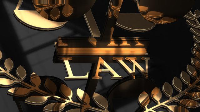 Law practice legal Lawyer attorney barrister representation - 3D illustration render