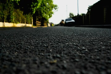 Fotomurales - Surface Level Of Empty Road
