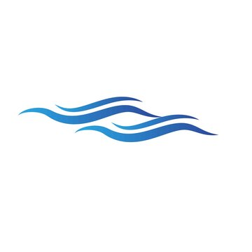 Wave logo template design. Icon wave illustration vector