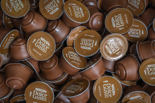 Nescafe Dolce Gusto capsules background
