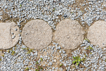 stones in the ground