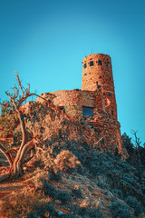 Desert View Watchtower, Grand Canyon in Arizona, Southern Rim.